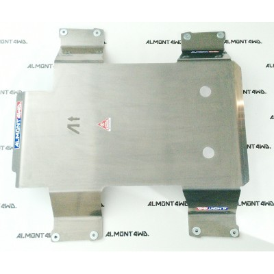 PROTECTOR CAJA Y TRANSFER DURALUMINIO 8mm ALMONT4WD JEEP WG 2002-2005