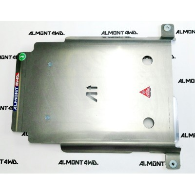 PROTECTOR CAJA Y TRANSFER DURALUMINIO 8mm ALMONT4WD LAND ROVER DEFENDER 90 TD4