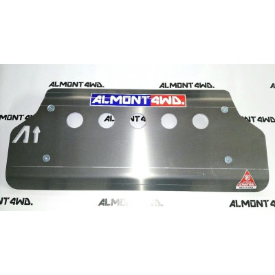 PROTECTOR FRONTAL DURALUMINIO 8mm ALMONT4WD LAND ROVER DEFENDER 110 TD4
