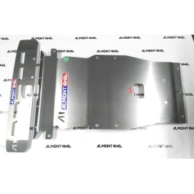 PROTECTOR FRONTAL Y BAJO PARAGOLPES DURALUMINIO 8mm ALMONT4WD LAND ROVER DISCOVERY III