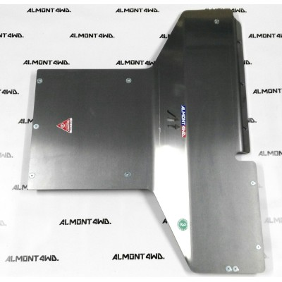 PROTECTOR CAJA Y TRANSFER DURALUMINIO 8mm ALMONT4WD LAND ROVER DISCOVERY III