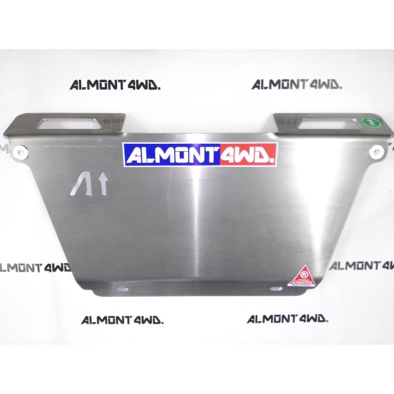 PROTECTOR FRONTAL CON WINCH DURALUMINIO 6mm ALMONT4WD MITSUBISHI MONTERO V20