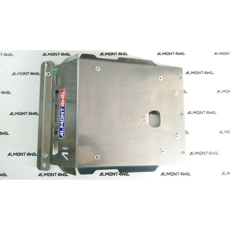 PROTECTOR FRONTAL RADIADOR DURALUMINIO 8mm ALMONT4WD MITSUBISHI MONTERO V80