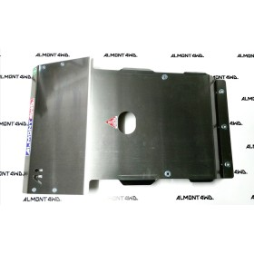 PROTECTOR CAJA Y TRANSFER DURALUMINIO 6mm ALMONT4WD TOYOTA LAND CRUISER 90
