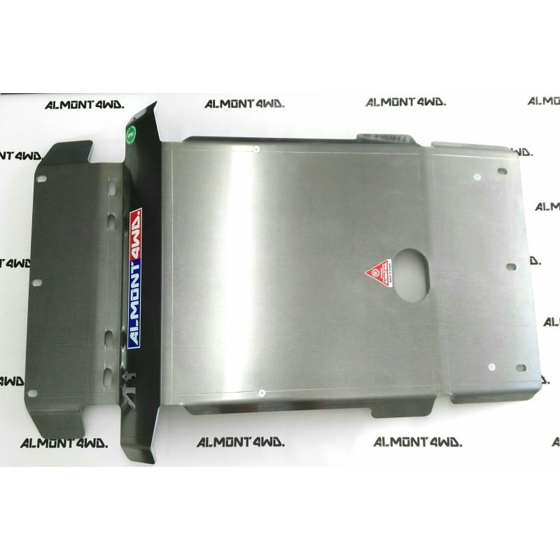 PROTECTOR FRONTAL (KDSS - PARAGOLPES ORIGINAL) DURALUMINIO 8mm ALMONT4WD TOYOTA LAND CRUISER 180