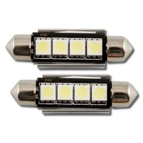 2 x BOMBILLA BLANCA PLAFONIER 4 LEDS 42 MM HP CAN-BUS