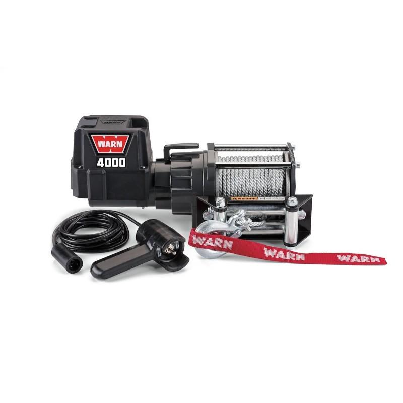 WINCH WARN 4000 DC / 12 V 1.864kg CABLE DE ACERO